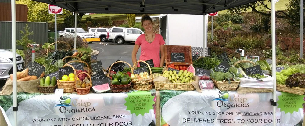 Holly Kendall at a community market