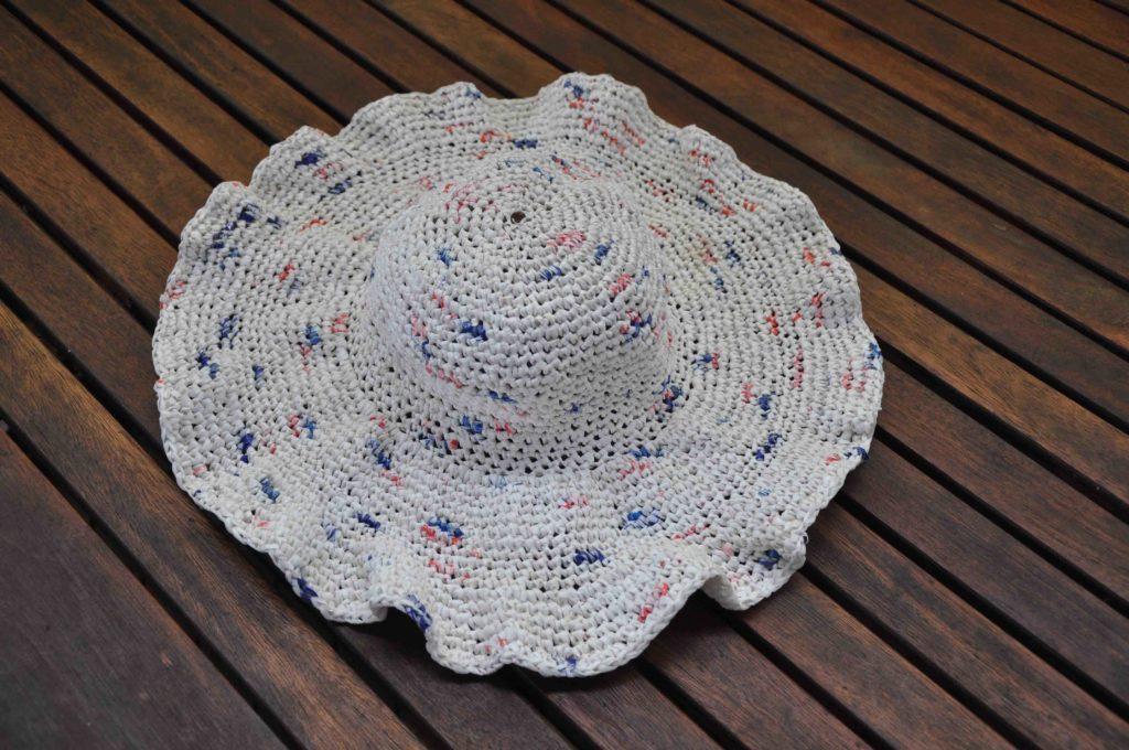 Marianne's remarkable bread bag hat